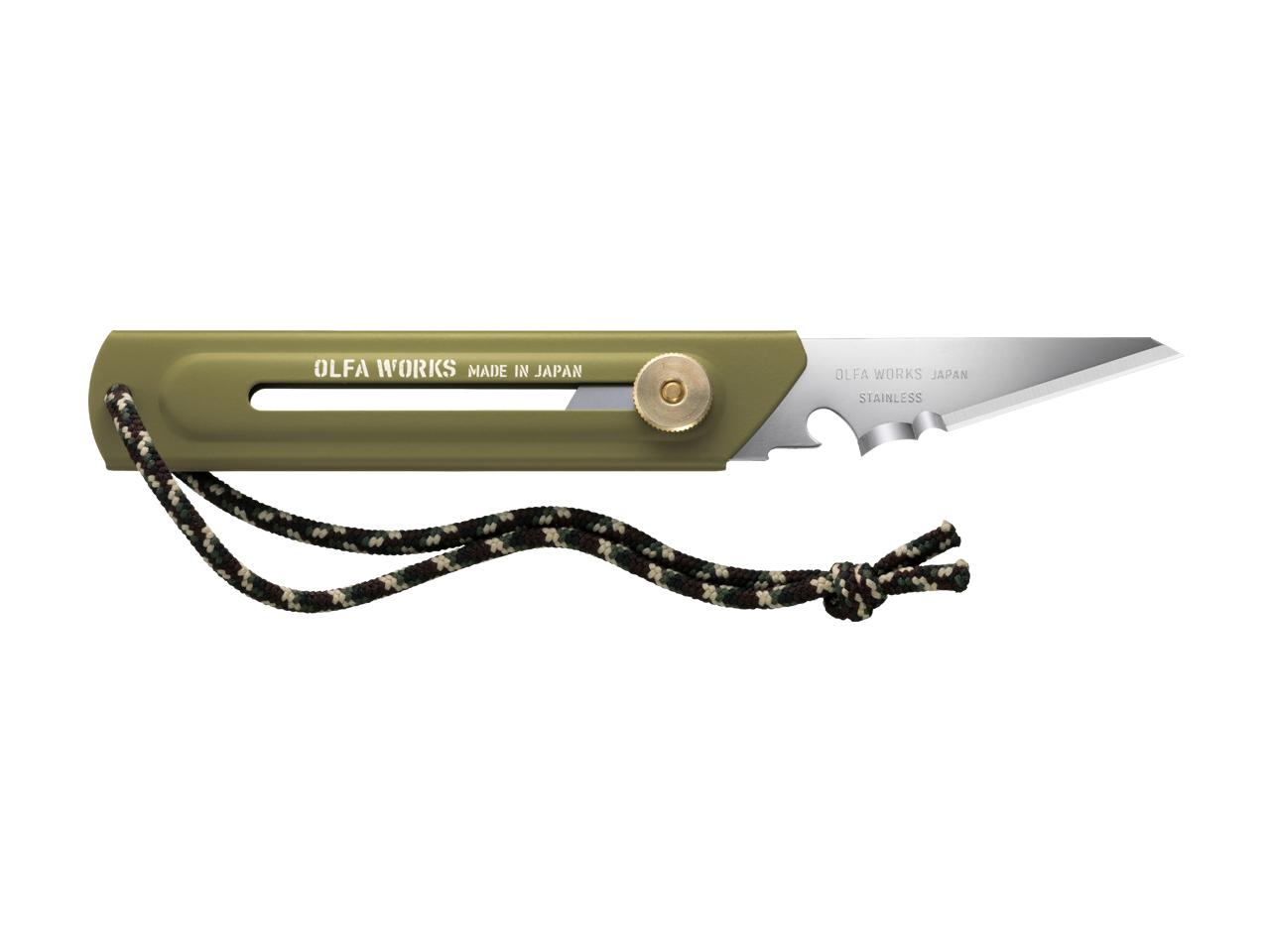 替刃式ブッシュクラフトナイフ BK1 オリーブドラブ