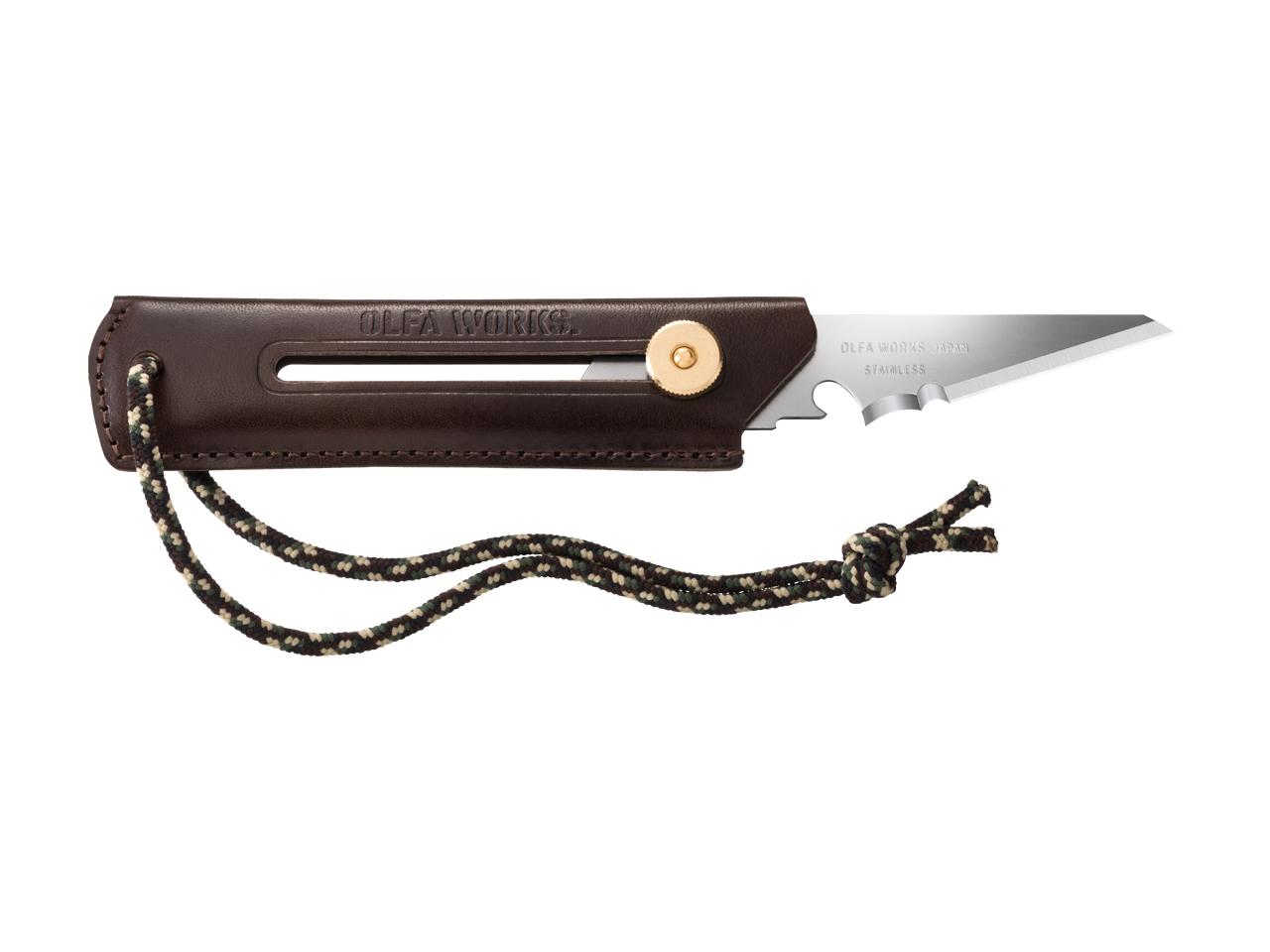 替刃式ブッシュクラフトナイフ BK1 レザー ダークブラウン